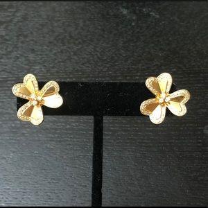 18k Yellow Gold Large Frivole w/ Diamond Earrings